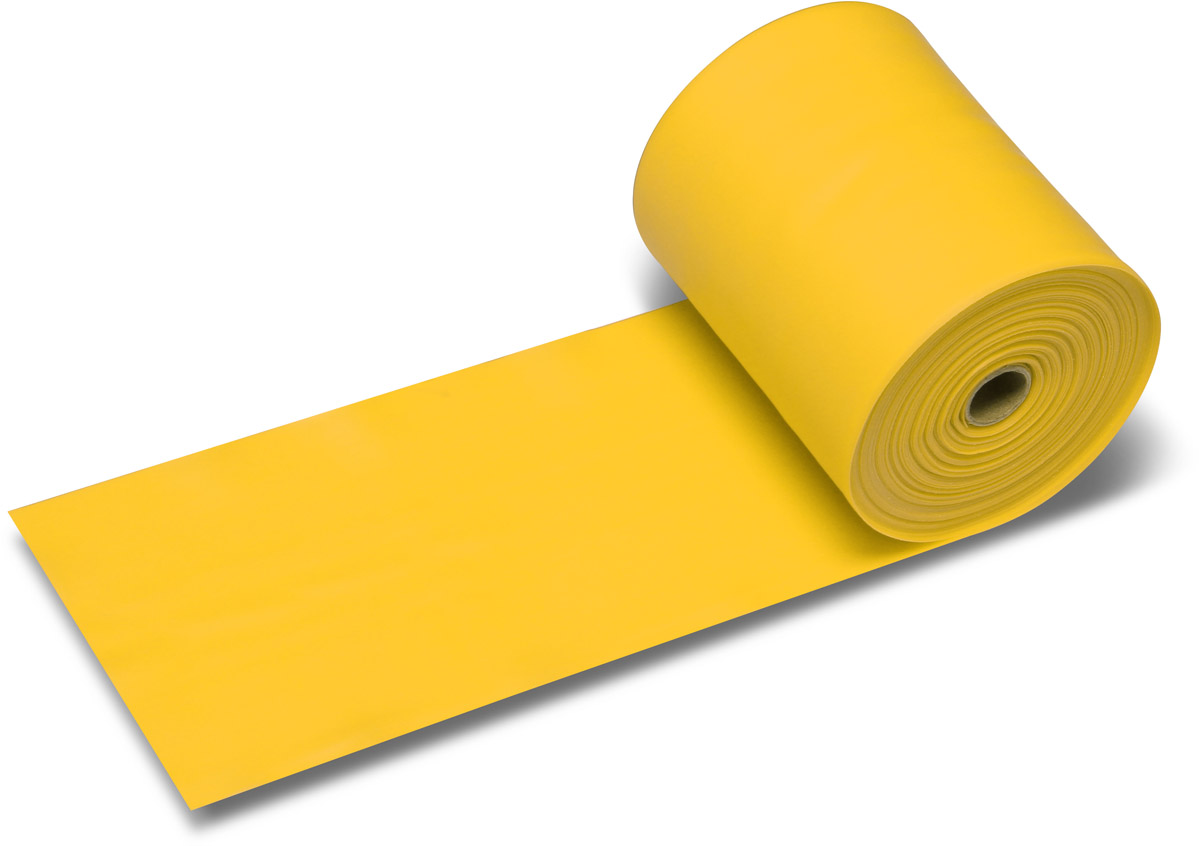 Эспандер ленточный Indigo Light, цвет: желтый, 25 м
