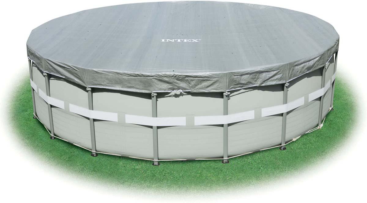 Тент для бассейна Intex, круглый, 549 см чаша intex 10615 для каркасного бассейна metal frame pool 305x76 см