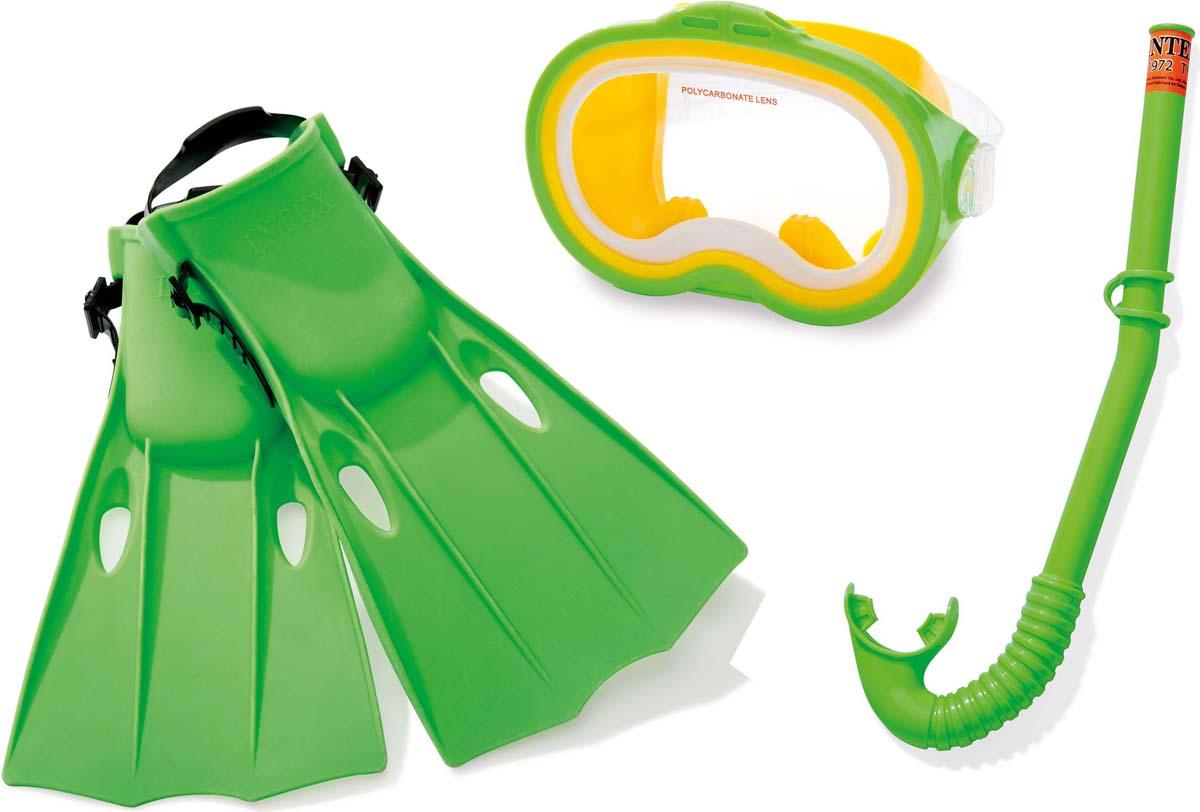 Набор для плавания Intex Приключения мастер: маска, трубка, ласты ласты для сноркелинга 520 для взрослых