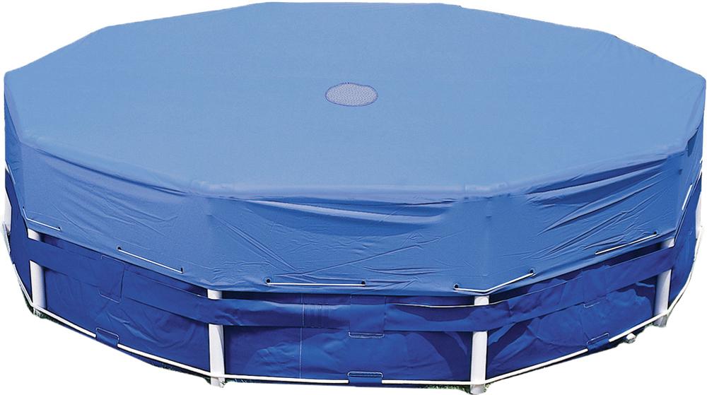 Тент для бассейна Intex, круглый, 488 см чаша intex 10615 для каркасного бассейна metal frame pool 305x76 см