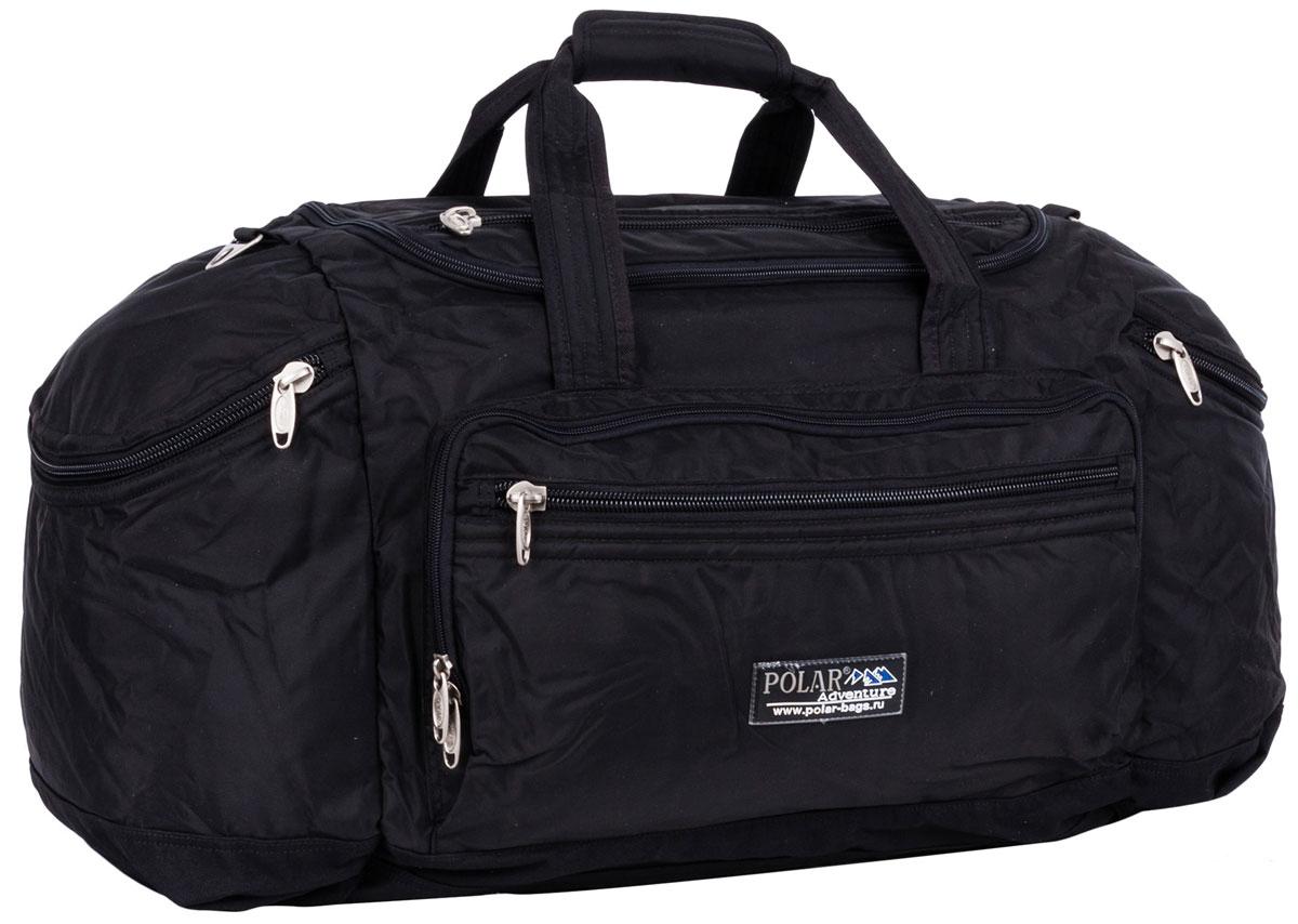 Сумка дорожная Polar, цвет: черный, 53 л рюкзак polar polar po001buawne5