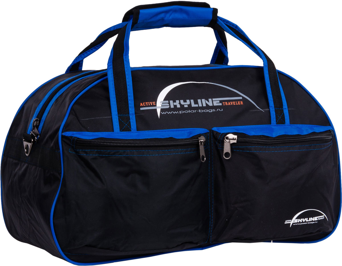 Сумка дорожная Polar Скайлайн, цвет: черный, синий, 53 л рюкзак polar polar po001buawne5