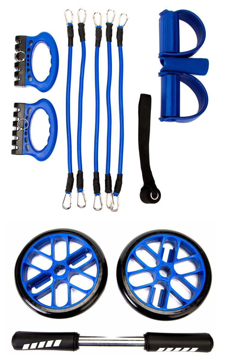 """Представьте, что все основные тренажеры из спортзала могут уместиться на полке в шкафу, под кроватью или в рюкзаке. Похоже на сказку! Но с """"Маскл Комплекс"""" – это реальность. С его помощью вы сможете выполнять весь спектр упражнений, не посещая дорогие фитнес- центры.  Благодаря модульному многофункциональному тренажеру """"Маскл Комплекс"""" вы сможете проводить комплексные тренировки, устанавливая при этом нагрузку, необходимую для вашего уровня подготовки.  Преимущества: Пять тренажеров в одном и бесчисленное количество упражнений с их использованием Легкий и компактный, поэтому вы сможете взять его с собой в поездку Возможность подобрать необходимый уровень нагрузки Надежные и качественные материалы Быстрая и простая сборка  Сопротивление каждого эспандера - 8,2 кг"""
