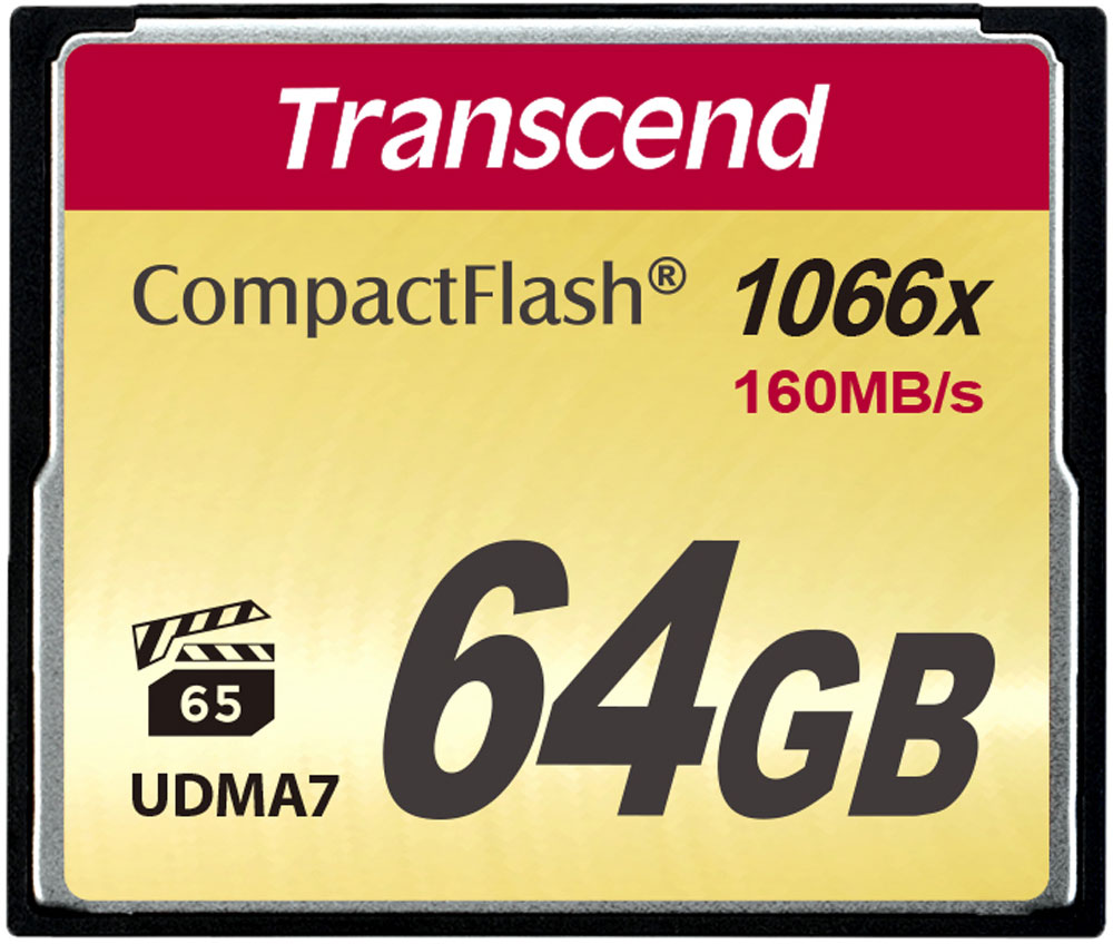 Transcend Compact Flash 1000X 64GB карта памяти (TS64GCF1000) карты памяти