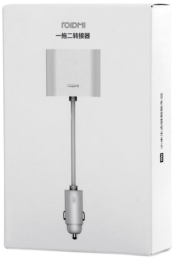 Xiaomi Roidmi Dual Port Converter, White разветвитель прикуривателя xiaomi roidmi dual port converter white разветвитель прикуривателя