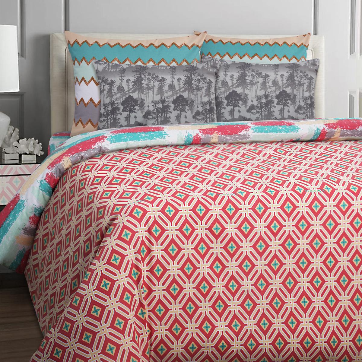 Комплект белья Mona Liza Stone Koral, 1,5-спальное, наволочки 70x70. 551114-51 комплект белья mona liza stone topaz 1 5 спальный наволочки 70x70 551114 63