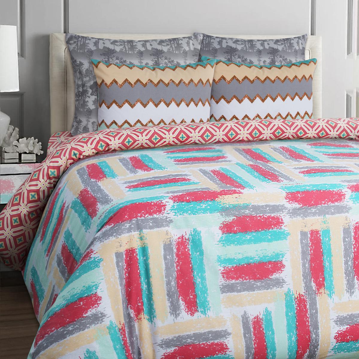 Комплект белья Mona Liza Stone Koral, 1,5-спальное, наволочки 70x70. 551114-53 комплект белья mona liza stone topaz 1 5 спальный наволочки 70x70 551114 63