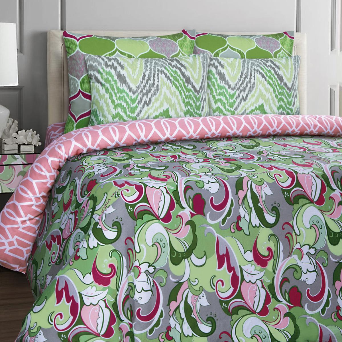 Комплект белья Mona Liza Stone Rubin, 2-спальный, наволочки 70x70. 552203-59 mona liza mona liza комплект белья 2 х спальный rosehip н 2 50 70 бязь люкс бязь люкс 2 наволочки 50х70