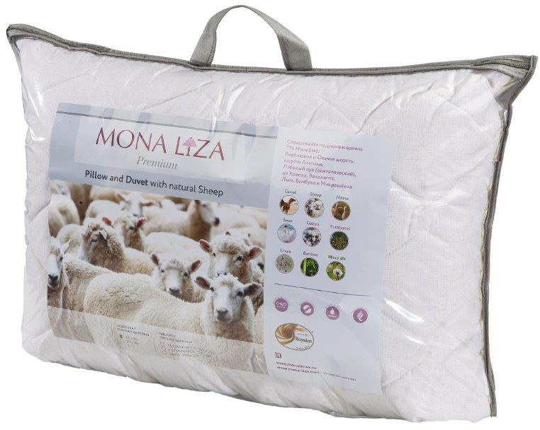 """Подушка Mona Liza """"Premium"""", цвет: бежевый, 50 x 70 см. 539716"""