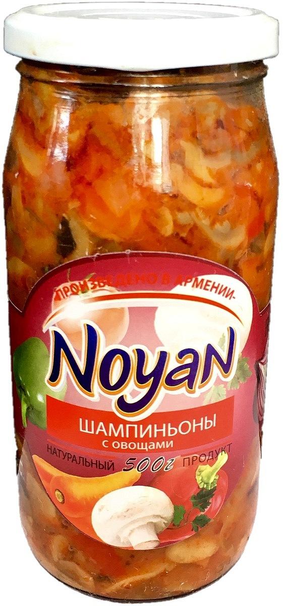 Noyan Шампиньоны с овощами, 500 г цены онлайн