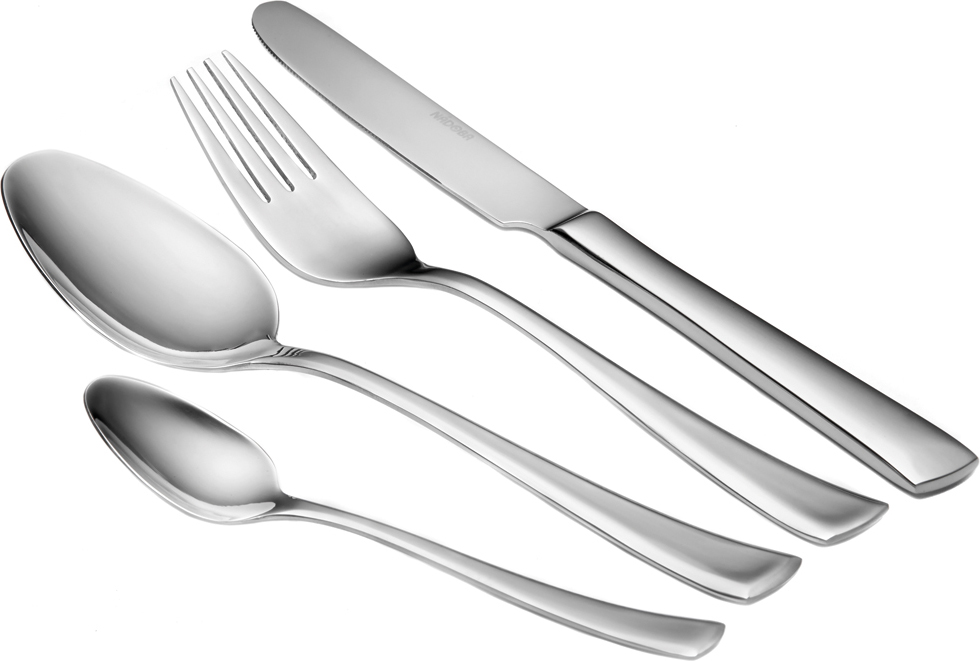 Набор столовых приборов Nadoba Kveta, 24 предмета nadoba ложка кулинарная с нейлоновым покрытием 721513 хром серый бел