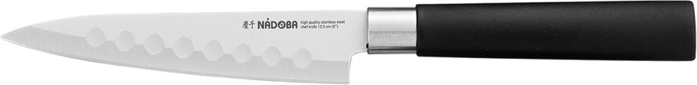 """Универсальный нож Nadoba """"Keiko"""" выполнен из нержавеющей стали. Рукоятка изготовлена из высококачественного пластика. Нож легко режет любые виды продуктов. Легко моется. Общая длина ножа: 23,5 см."""