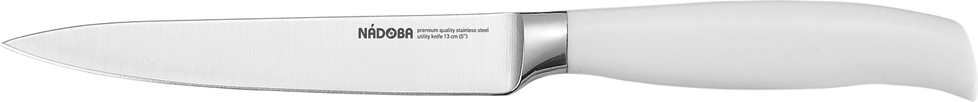 Нож универсальный Nadoba Blanca, длина лезвия 13 см сша фарфор mycera металлизация ручка 5 дюймов черный керамический нож пищевая добавка универсальный нож фрукты нож дыня синий n5s b