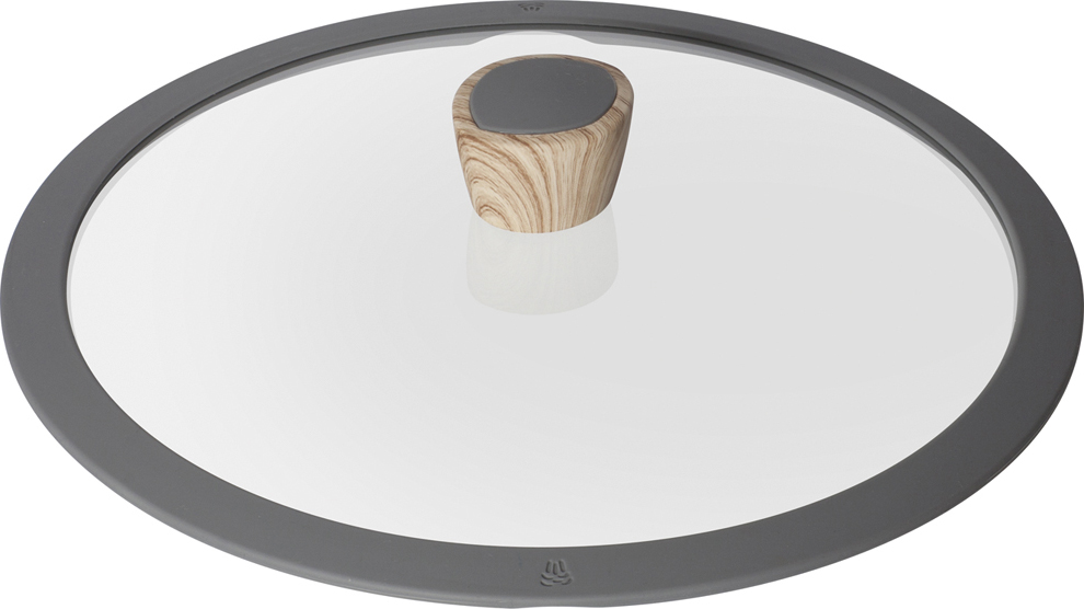 """Крышка Nadoba """"Mineralica"""" изготовлена из жаропрочного закаленного стекла. Силиконовый обод обеспечивает плотное прилегание крышки и предохраняет бортики посуды от повреждений. Удобная ненагревающаяся ручка с покрытием """"Soft-Touch"""" предотвращает выскальзывание. Можно мыть в посудомоечной машине."""