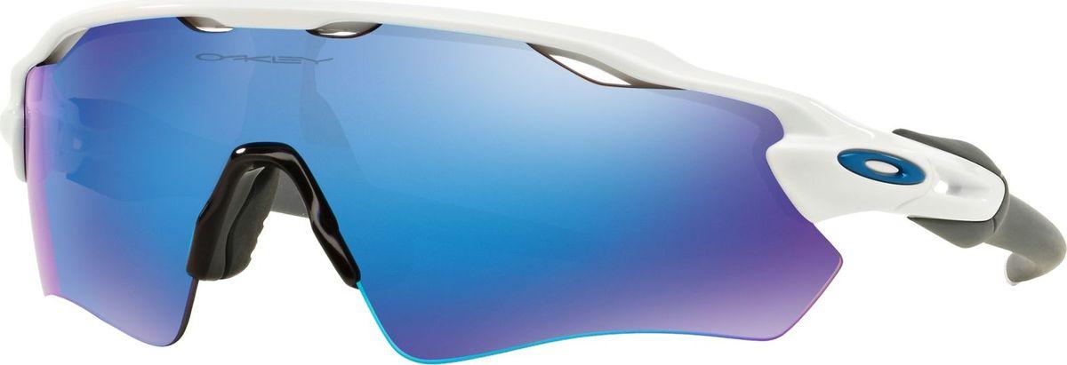 Велосипедные очки Oakley Radar Ev Path, цвет: Polished White / Sapphire Iridium солнцезащитные очки oakley 0oo9009 12 79