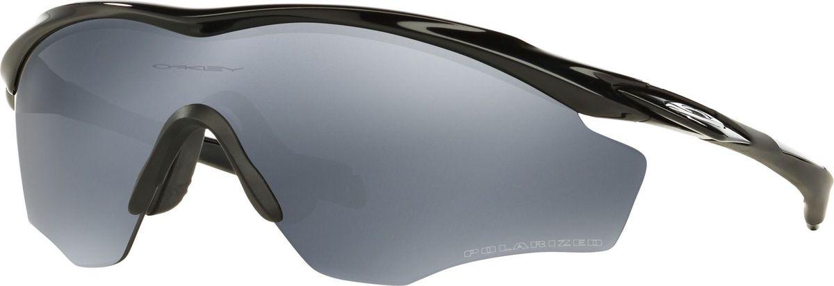 Велосипедные очки Oakley M2 Frame XL, цвет: Polished Black / Black Iridium Polarized0OO9343-93430945Форма линзы в M2 FRAME XL разработана с расширенной зоной обзора, чтобы во время катания, например, на велосипеде, при наклоне головы, Вы не испытывали дискомфорт. Легкая и невероятно прочная оправа со специальными силиконовыми накладками обеспечивает идеальную посадку, а высокотехнологичные линзы на 100% защищают от ультрафиолета. Выбор спортсменов №1. Особенности: Солнцезащитные очки. Оправа O Matter.Накладки Unobtainium для создания идеальной посадки.Линзы Plutonite обеспечивают 100% защиты от UVA / UVB / UVC излучений.High Definition Optics (HDO) - прошли тестирование в Американском Национальном Институте стандартов качества.
