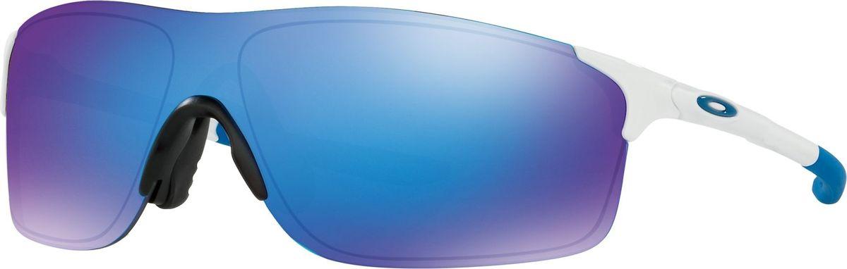 Велосипедные очки Oakley Evzero Pitch, цвет: Pol White / Sapph Irid