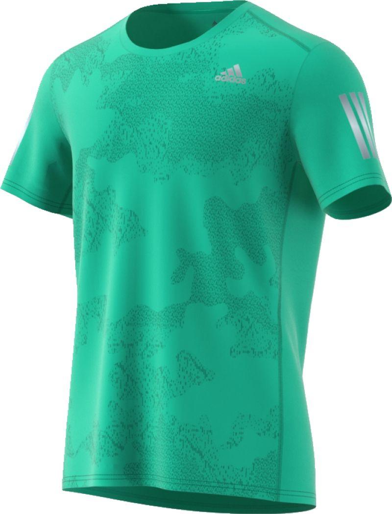 Футболка мужская Adidas Rs Ss Tee M, цвет: зеленый. CE7260. Размер XL (56/58) футболка женская adidas rs ss tee w цвет розовый cf2140 размер xl 52 54