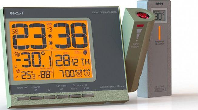 RST 32768, Gold проекционные часы - Радиобудильники и проекционные часы