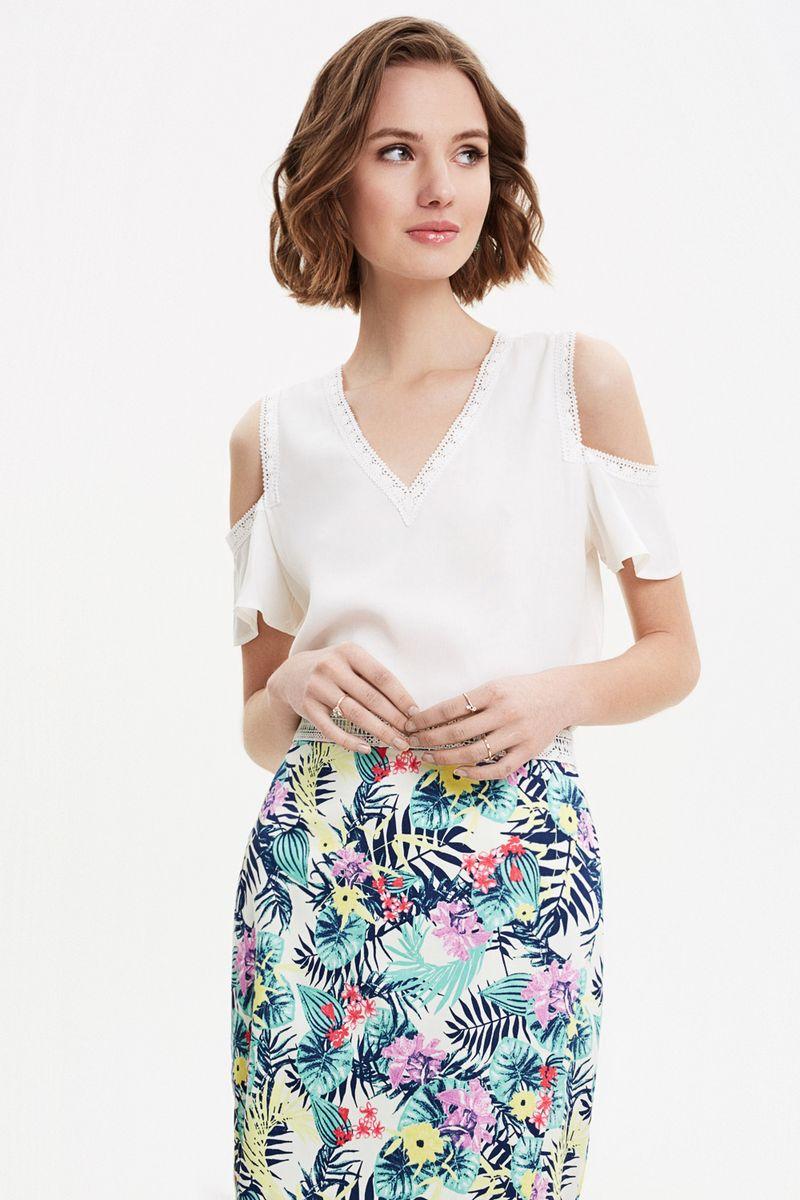 Блузка женская Concept Club Diany, цвет: белый. 10200270181_200. Размер XL (50) блузка женская concept club diany цвет белый 10200270181 200 размер xl 50