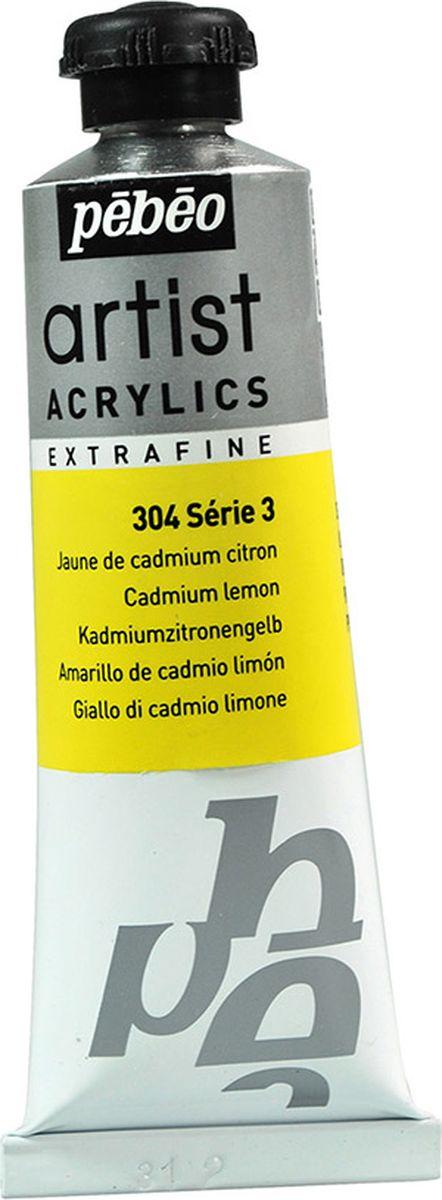 Pebeo Краска акриловая Artist Acrylics Extra Fine №3 цвет лимонно-желтый кадмий 37 мл