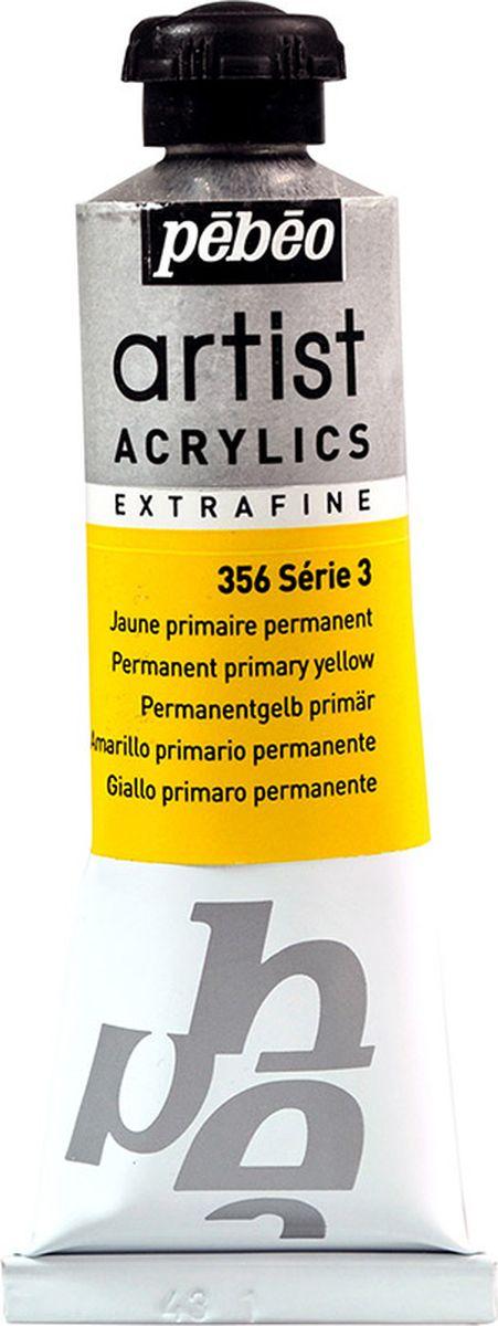 Pebeo Краска акриловая Artist Acrylics Extra Fine №3 цвет желтый основной 37 мл