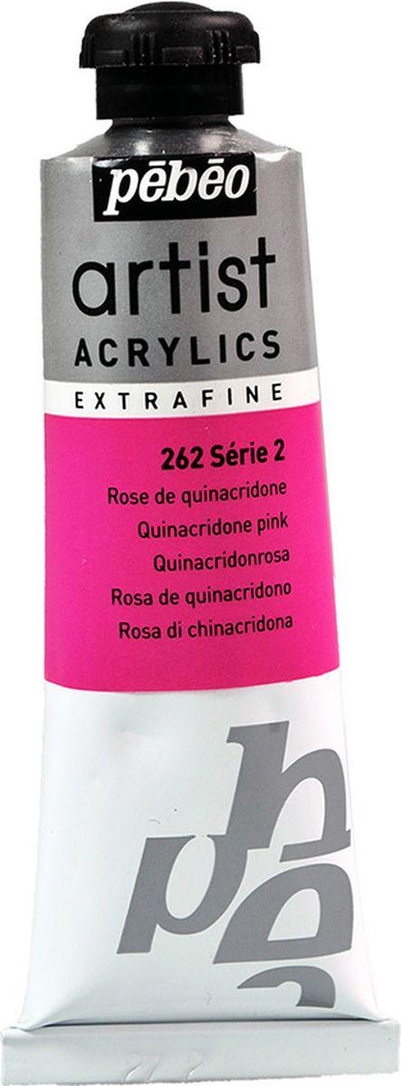 Pebeo Краска акриловая Artist Acrylics Extra Fine №2 цвет розовый хинакридон 37 мл -  Краски