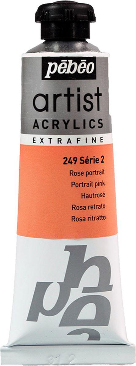 Pebeo Краска акриловая Artist Acrylics Extra Fine №2 цвет розовый портретный 37 мл -  Краски