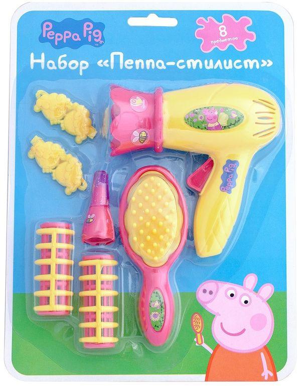 Свинка Пеппа Игровой набор Пеппа-стилист цвет желтый розовый набор посуды для детей stor свинка пеппа
