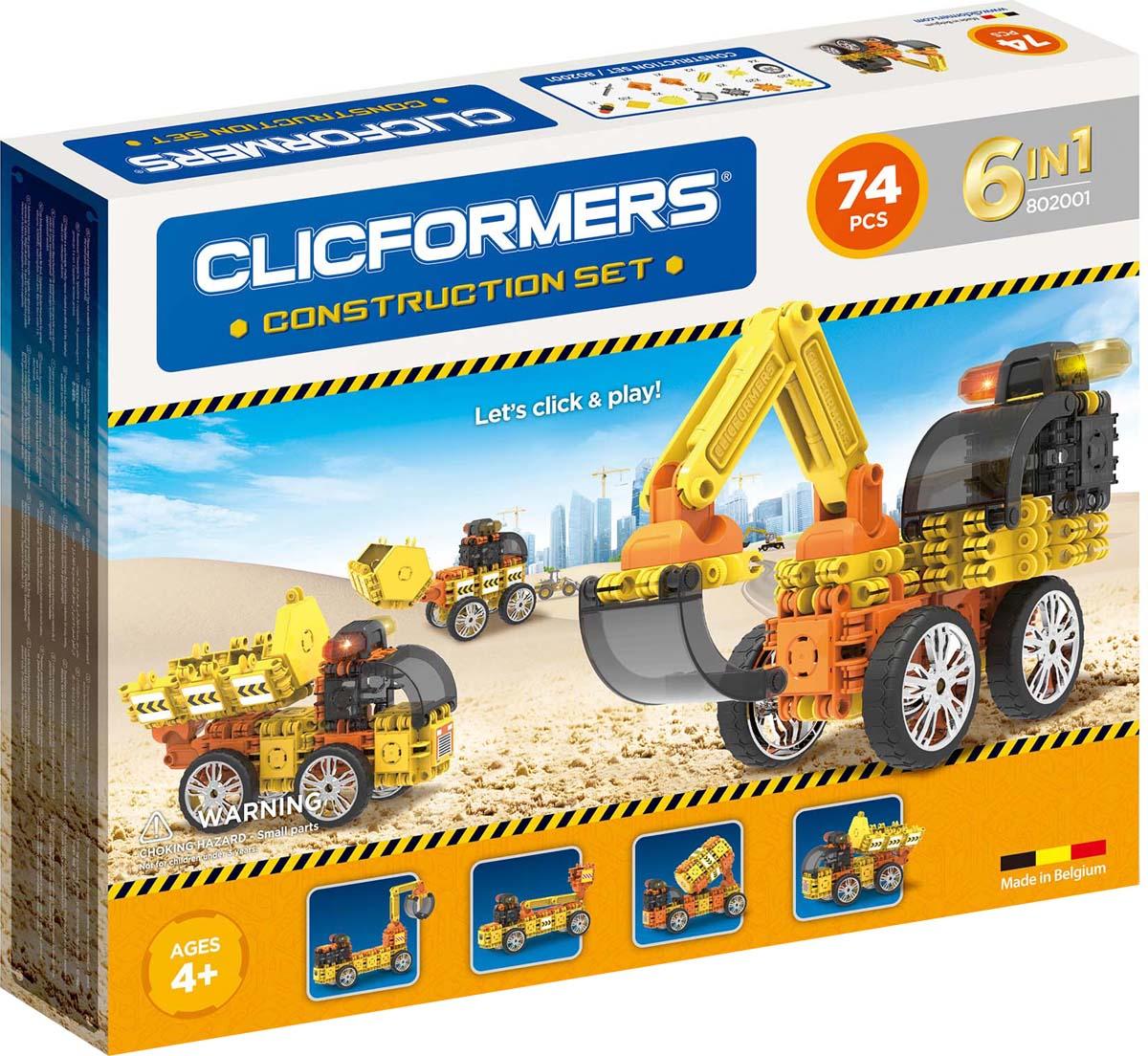 Clicformers Конструктор Construction Set 74 деталей конструкторы clicformers construction set mini 30 деталей