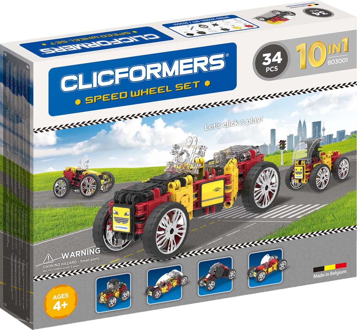Clicformers Конструктор Speed Wheel Set 34 детали