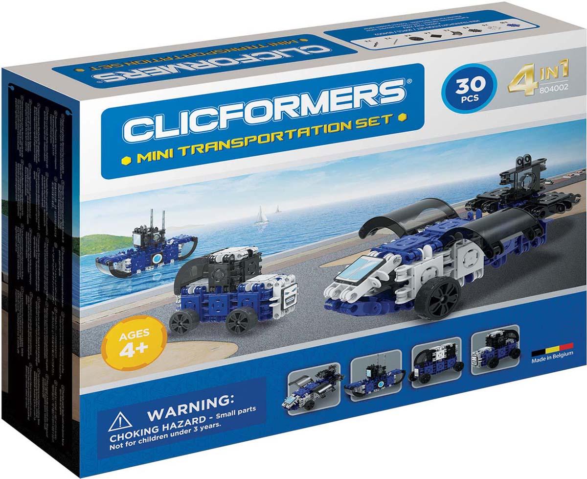 Clicformers Конструктор Transportation Set Mini 30 деталей конструкторы clicformers space set mini 30 деталей