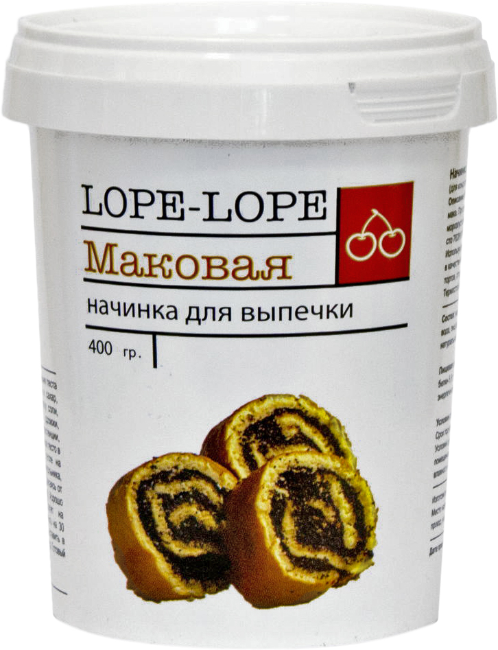 Lope-Lope Начинка для выпечки Маковая, 400 г