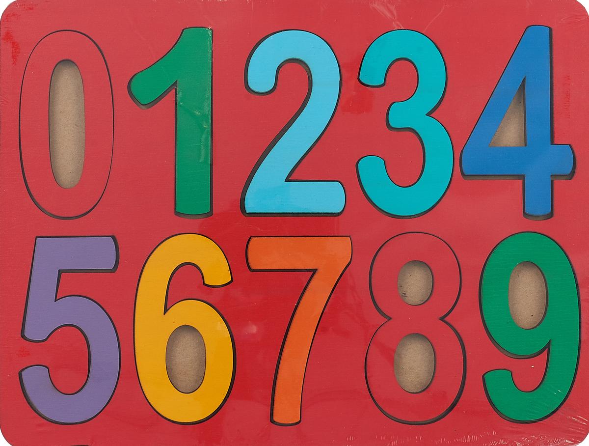 Smile Decor Обучающая игра Рамки-вкладыши Цифры Макси цвет красный smile decor обучающая игра машины цвет голубой