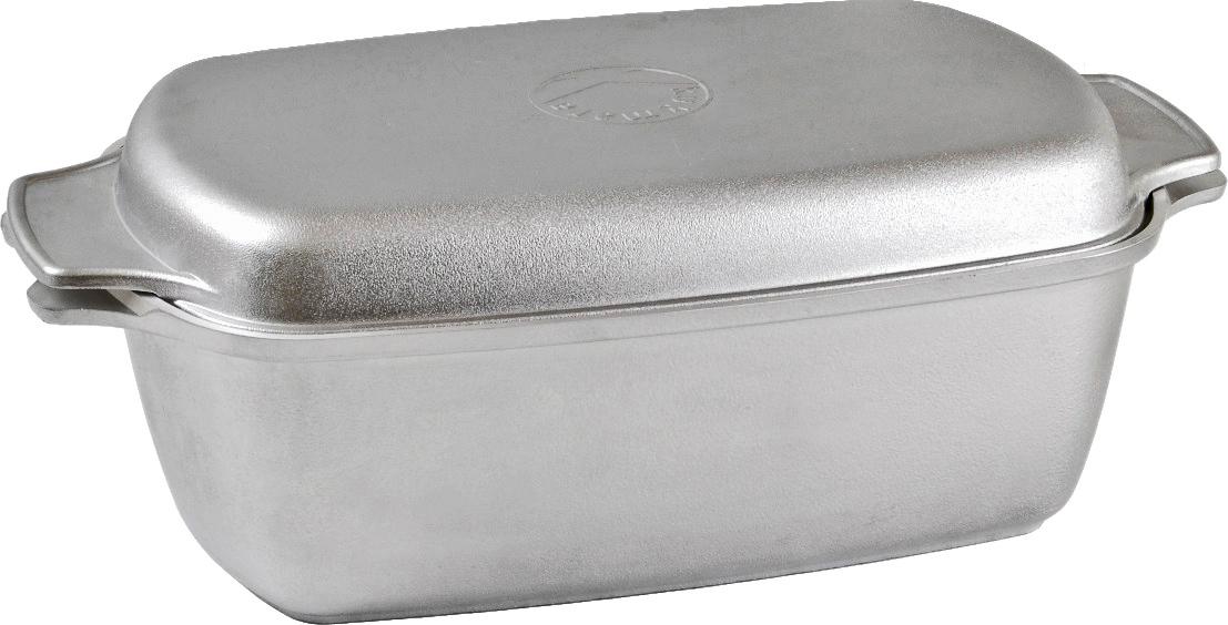 """Гусятница """"Kukmara"""" с крышкой изготовлена из литого алюминия, простая и удобная посуда с нестареющим дизайном.Особенности гусятница """"Kukmara"""":значительная толщина стенок и дна исключает деформацию корпуса гусятница, гарантирует ее долговечность;идеальное распределение тепла по всей поверхности посуды, длительное сохранение тепла;основание из литого алюминия толщиной от 4,5 до 6 мм;экологически безопасная;возможность использования в духовом шкафу;крышка гусятницы может использоваться в качестве сковороды;легкость мытья;удобная для жарки мяса, запекания, тушения овощей; еда в такой посуде не пригорает, а томится, как в русской печи.Гусятница """"Kukmara"""" позволит превратить обыкновенный процесс приготовления пищи в приятное и легкое занятие для любой хозяйки.Объем 5,5 л. г55"""
