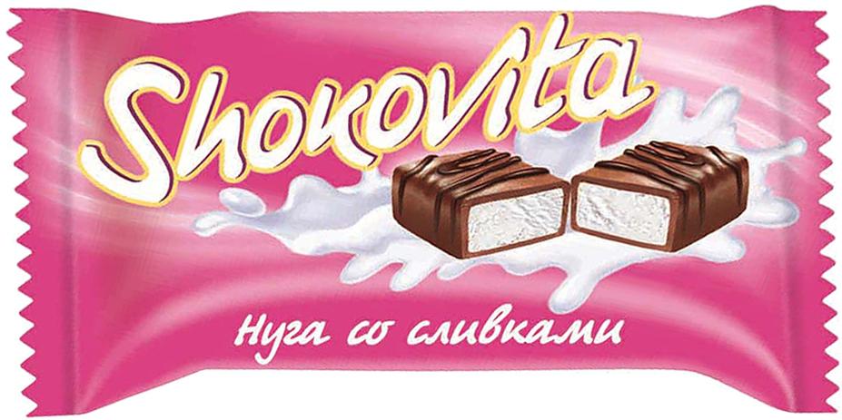Кондитерская фабрика Богатырь Shokovita нуга со сливками и мягкой карамелью, 1 кг конфеты азовская кондитерская фабрика азовская молочная 300г