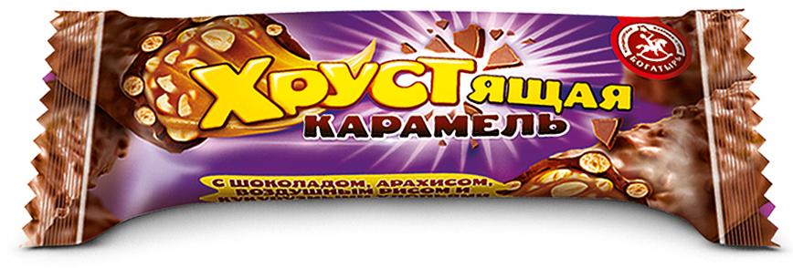 Кондитерская фабрика Богатырь Хрустящая карамель с шоколадом и арахисом, 1 кг конфеты азовская кондитерская фабрика азовская молочная 300г