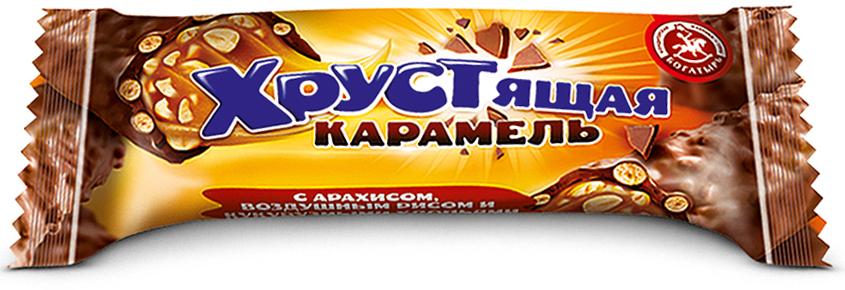 Кондитерская фабрика Богатырь Хрустящая карамель с арахисом, 1 кг медвеган конфеты глазированные арахис в мягкой карамели 345 г
