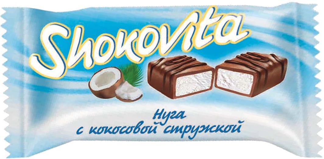 Кондитерская фабрика Богатырь Shokovita нуга с кокосовой стружкой, 1 кг конфеты азовская кондитерская фабрика азовская молочная 300г