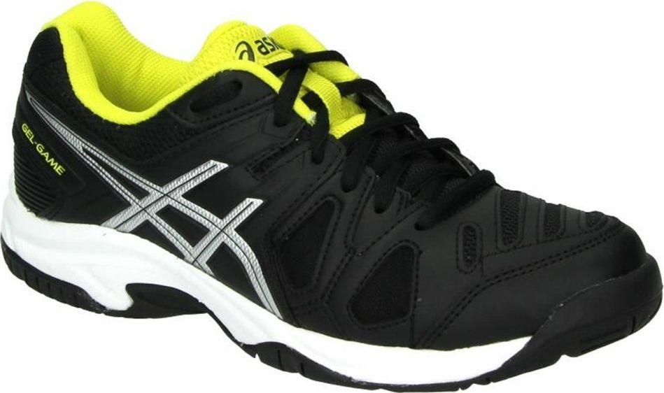Кроссовки для мальчика Asics Gel-Game 5, цвет: черный. C502Y-9093. Размер 6H (38)C502Y-9093С кроссовками Gel-Game 5 вы непобедимы. Это исключительные кроссовки средней высоты, разработанные специально для тех, кому важна выносливость и надежное сцепление с поверхностью. Эти кроссовки позволят хорошо зафиксировать ступню. У подошвы кроссовок Gel-Game 5 однородная резиновая поверхность, которая с легкостью выдерживает воздействие грубых материалов покрытия хард.