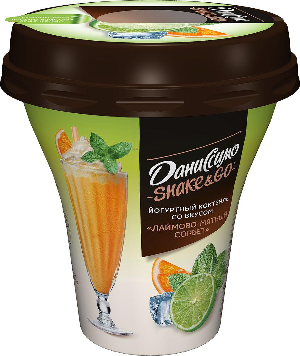 Даниссимо Shake&Go Лайм-Мятный сорбет 5,2%, 260 г олинеза лютеница домашняя 260 г
