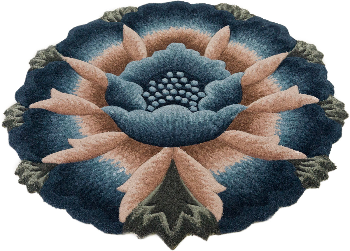 Ковер Madonna, круглый, цвет: синий, 0,8 х 0,8 м. 8563/8665 венера ковер тачки 80 133 см