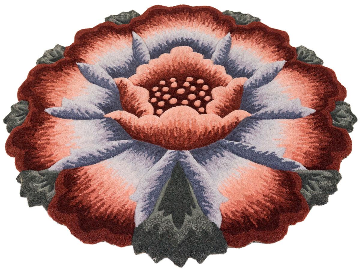 Прикроватный коврик в виде яркого цветка долго прослужит в вашем доме, добавляя тепло и уют, а также внесет неповторимый колорит в интерьер любой комнаты.