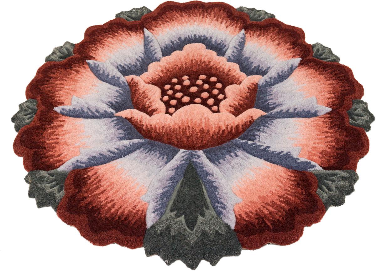 Ковер Madonna, круглый, цвет: терракот, 0,8 х 0,8 м. 8563/8628 венера ковер тачки 80 133 см