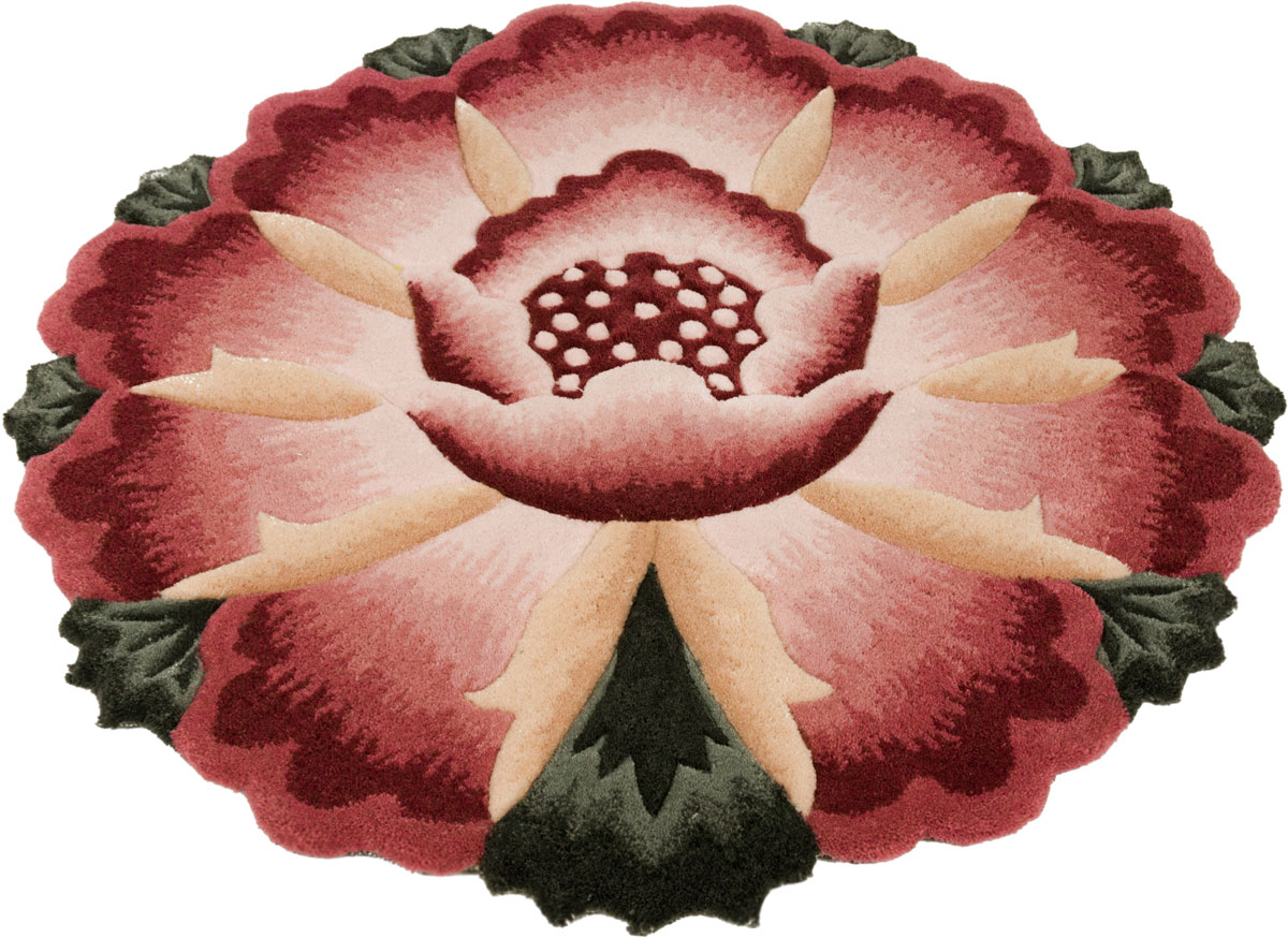 Ковер Madonna, круглый, цвет: бордовый, 0,8 х 0,8 м. 8563/8213 часы слава 1249422 300 2428