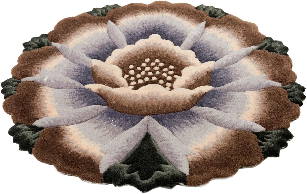 Ковер Madonna, круглый, цвет: коричневый, 0,8 х 0,8 м. 8563/8223 венера ковер тачки 80 133 см