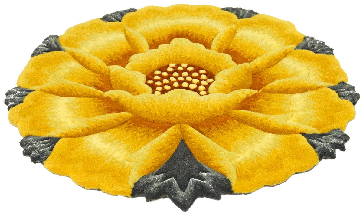 Ковер Madonna, круглый, цвет: желтый, 0,7 х 0,7 м. 8563/8157 2108