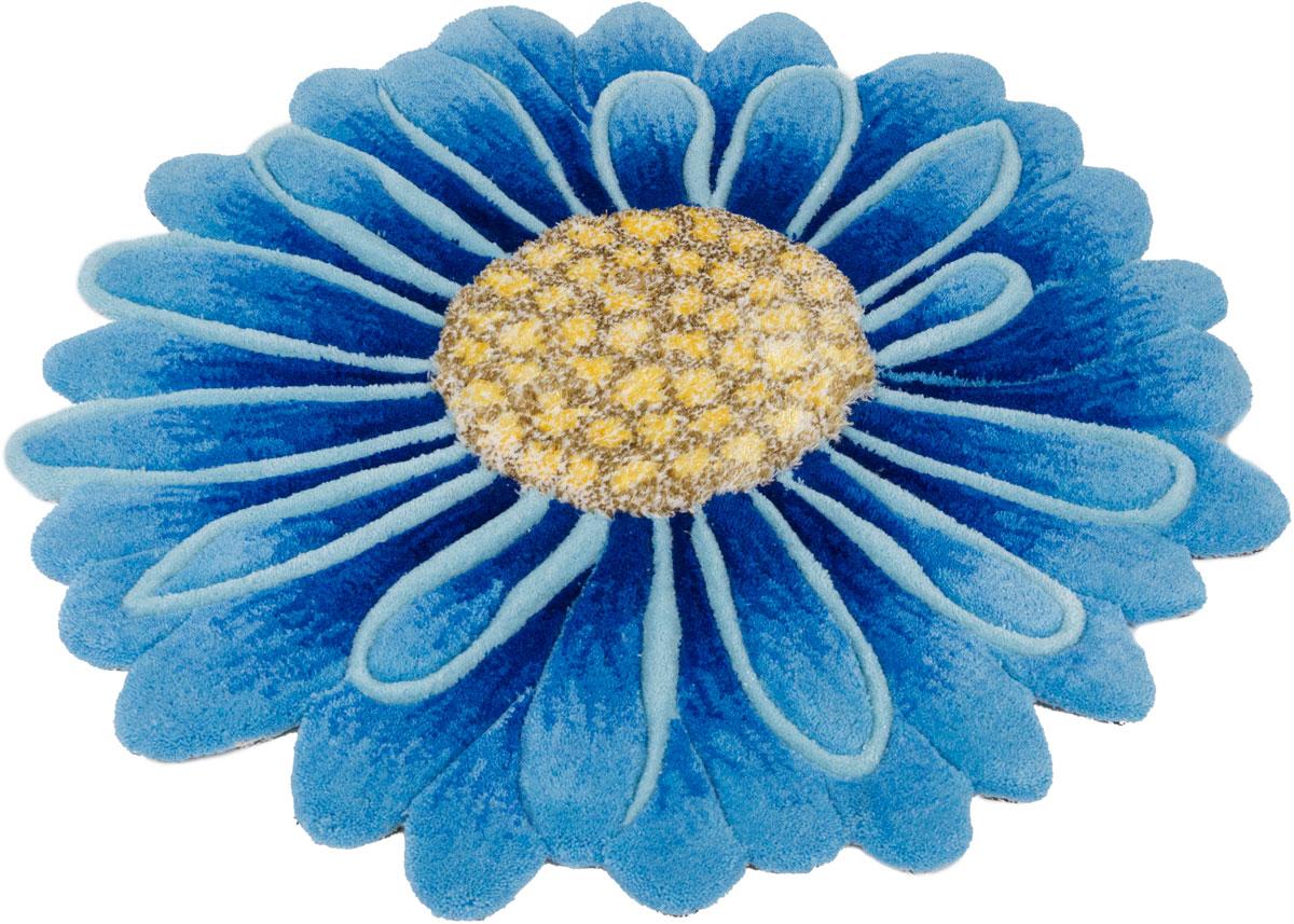 Ковер Madonna, круглый, цвет: голубой, 0,8 х 0,8 м. 8DHS03/8388 венера ковер тачки 80 133 см