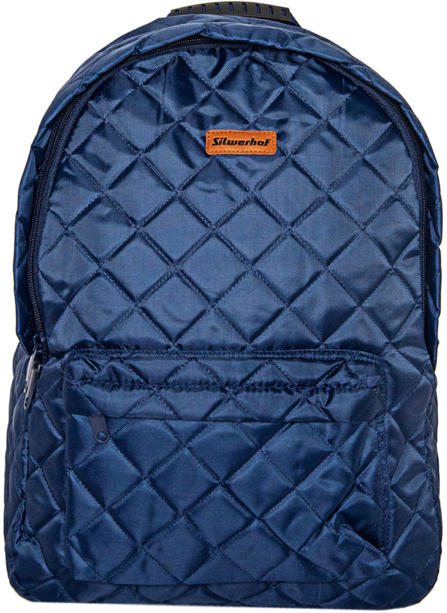 Silwerhof Рюкзак One-Stop цвет синий1015350Идеальный рюкзак для повседневного использования. Изготовлен из высокопрочной и водонепроницаемой ткани. Не выгорает на солнце. Имеет вместительный внешний карман. Уплотненные лямки S-образной формы со световозвращающими элементами. Ручка оснащена пластиковой вставкой.
