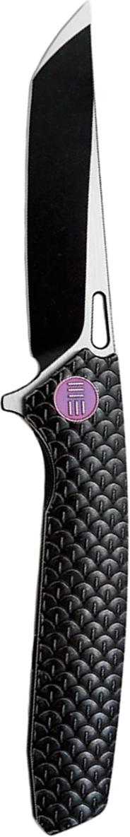 Нож складной We Knife 604A, цвет: черный, длина клинка 9,7 см